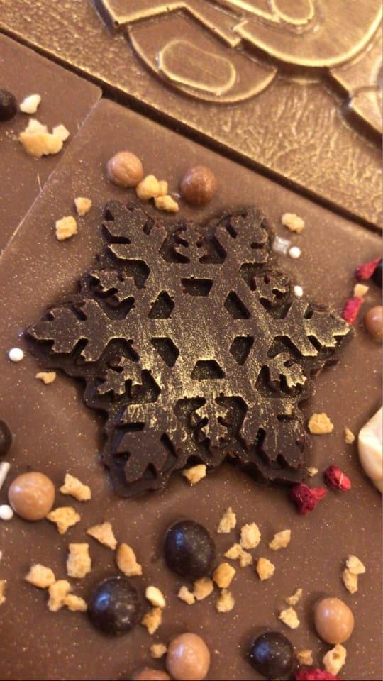 Новогодний шоколад ручной работы